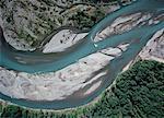 Vue aérienne de la rivière Cowlitz Mount Rainier National Park Packwood, Washington, Etats-Unis