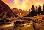 Wenkchemna Range at Sunset Banff National Park Alberta, Canada