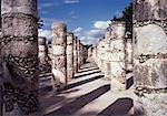 Plaza der tausend Spalten Chichen Itza, Mexiko