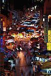 Marché de Chinatown à nuit Kuala Lumpur, Malaisie