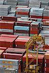 Vue d'ensemble du conteneur Port de Singapour