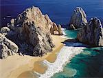 Luftbild des geliebten Strand Pazifischer Ozean, Meer von Cortes-Cabo San Lucas, Baja, Mexiko