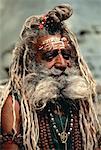 Portrait d'homme Mature Outdoors Jaipur, Rajasthan, Inde