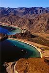 Luftaufnahme der Bucht der Empfängnis Golf von Kalifornien, Mulege Baja, Mexiko