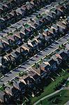 Vue aérienne du quartier résidentiel, à Brampton, Ontario, Canada