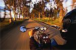 Person Riding Motorcycle on Road Pokolbin Vineyard, Australia