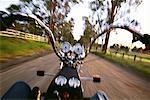 Moto Perspective Pokolbin Vineyard, Australie de conduire