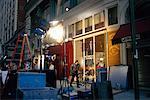 Filming on Sidewalk New York, New York, USA