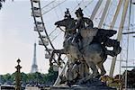Grande roue et Statue en Place de la Concorde, Paris, France
