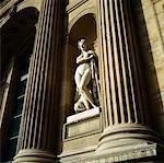 Statue Between Columns The Louvre, Paris, France
