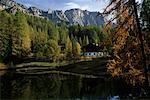 Dolomites et le lac, Cortina, Italie