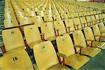 Sièges vides en Hockey Arena Vancouver, Colombie-Britannique Canada