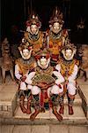 Portrait of Masked Dancers Bali, Indonesia