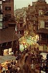 Blurred View of People Shopping In Asan Tole Bazaar Kathmandu, Nepal