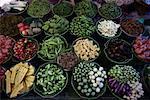 Vegetables in Pak Klong Market Bangkok, Thailand