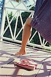 Woman's Leg Hanging over Hammock Nevis, West Indies