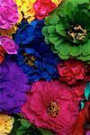 Nahaufnahme von Papier-Blumen-Mexiko