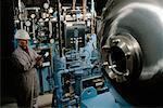 Arbeiter in Water Treatment Plant Massachusetts, USA