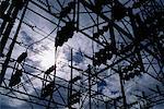 Station électrique de Sub et ciel Las Vegas, Nevada, USA