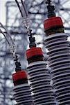 Gros plan d'électriques Sub Station Las Vegas, Nevada, États-Unis