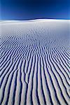 Dune de sable de sable blanc National Monument au Nouveau-Mexique, États-Unis