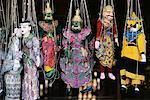 Marionnettes birmanes pour vente Bagan, Myanmar