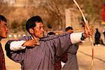 Men in Archery Contest Thimpu, Bhutan