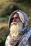 Mature Man Outdoors Aerial Bay, Andaman Islands India