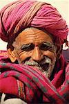 Portrait of Mature Man Rajasthan, India