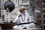 Mature Man in Meherangarh Fort Jodhpur, Rajasthan, India