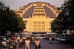 Street and Central Market Phnom Penh, Cambodia