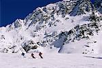 Skieurs à Whistler Blackcomb Mountain, en Colombie-Britannique Canada