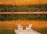 Dock on Maligne Lake Jasper National Park Alberta, Canada