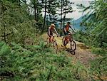 Couple Mountian Biking British Columbia
