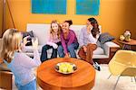 Teenage Girls With Digital Camera