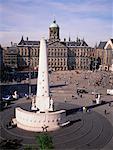 Palais Royal et le Dam Square Amsterdam, Pays-Bas