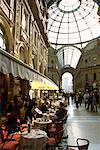 Cafe in Galleria Vittorio Emanuele