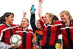 Girls' Soccer Team Celebrating