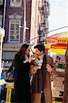 Couple Outdoors Soho, New York, USA