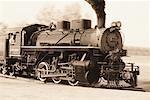 Locomotive en mouvement