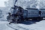 Locomotive avec la tête