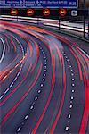 Streaking Lights on Highway