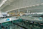 Intérieur de l'aéroport International Chep Lap Kok