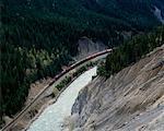 Train depuis le haut de la Gorge