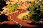 Bobinage route Utah, USA