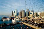 Pont de Brooklyn et Manhattan Cityscape, New York