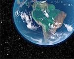 Amérique du Sud depuis l'espace