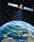Satellite Transmission over Europe