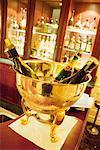 Chilled Champagne Bottles