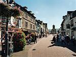 Pavées petite ville rue Lake District, Angleterre
